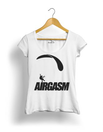 AIRGASM Siklóernyős Póló női fehér fekete