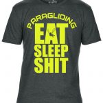 eat sleep shit paragliding ferfi polo szurke neon sarga