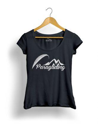 Paragliding Siklóernyős Női Póló fekete